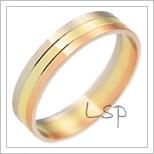 Snubní prsteny LSP 2344 kombinované zlato