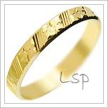 Snubní prsteny LSP 2347 žluté zlato
