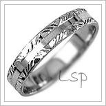 Snubní prsteny LSP 2350b bílé zlato