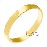 Snubní prsteny LSP 2353 žluté zlato