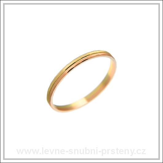 Snubní prsteny LSP 2355 kombinované zlato