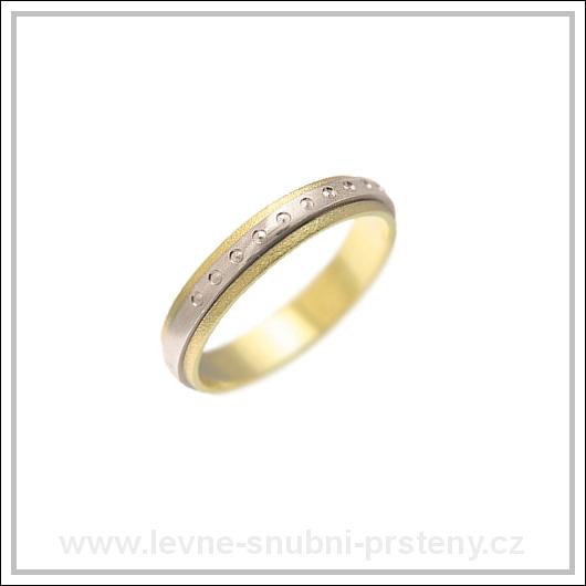 Snubní prsteny LSP 2360 kombinované zlato