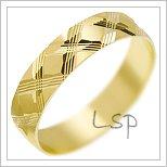 Snubní prsteny LSP 2364 žluté zlato