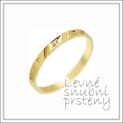 Snubní prsteny LSP 2367 žluté zlato