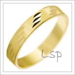 Snubní prsteny LSP 2375 žluté zlato