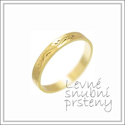 Snubní prsteny LSP 2383 žluté zlato