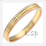 Snubní prsteny LSP 2385 kombinované zlato
