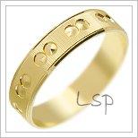 Snubní prsteny LSP 2391 žluté zlato