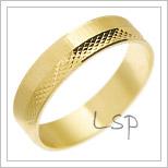 Snubní prsteny LSP 2394 žluté zlato