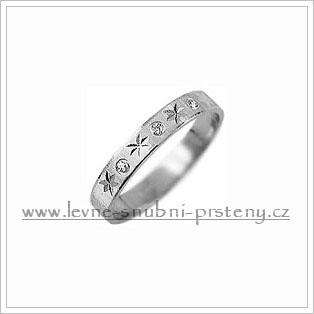 Snubní prsteny LSP 2396b bílé zlato
