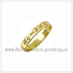 Snubní prsteny LSP 2396z žluté zlato se zirkony