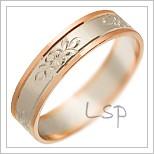 Snubní prsteny LSP 2400 kombinované zlato