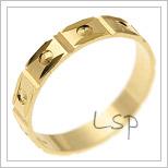 Snubní prsteny LSP 2404 žluté zlato