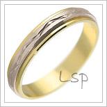 Snubní prsteny LSP 2405 kombinované zlato