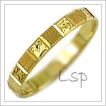 Snubní prsteny LSP 2406 žluté zlato
