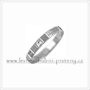 Snubní prsteny LSP 2406b bílé zlato