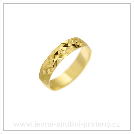 Snubní prsteny LSP 2408 žluté zlato