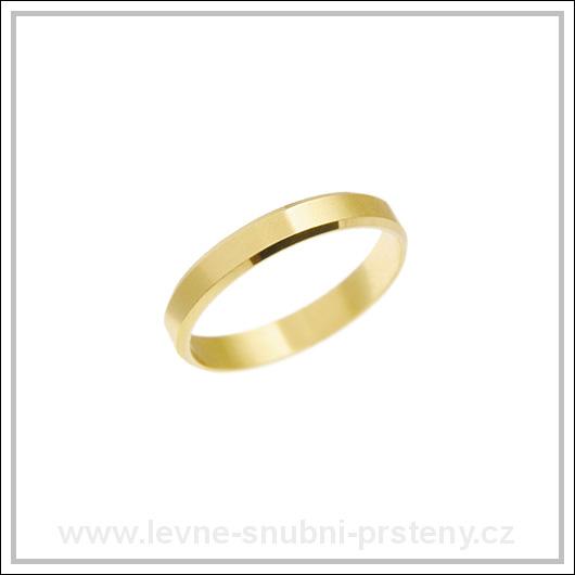Snubní prsteny LSP 2415 žluté zlato