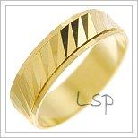 Snubní prsteny LSP 2416 žluté zlato