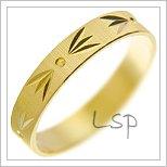Snubní prsteny LSP 2425 žluté zlato