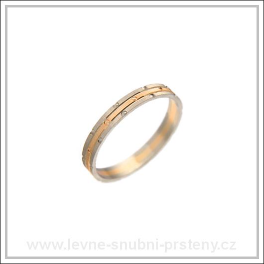 Snubní prsteny LSP 2426 kombinované zlato