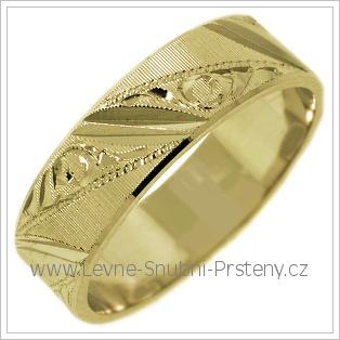 Snubní prsteny LSP 2428 žluté zlato