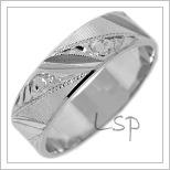 Snubní prsteny LSP 2428b bílé zlato