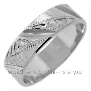 Snubní prsteny LSP 2428b žluté zlato