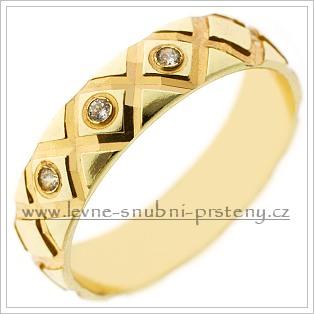 Snubní prsteny LSP 2429 žluté zlato s diamanty