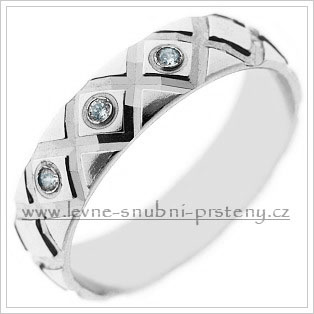 Snubní prsteny LSP 2429b bílé zlato