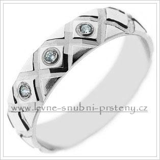 Snubní prsteny LSP 2429bz bílé zlato