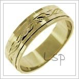 Snubní prsteny LSP 2431 žluté zlato