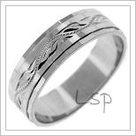 Snubní prsteny LSP 2431b bílé zlato