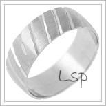 Snubní prsteny LSP 2433 - bílé zlato
