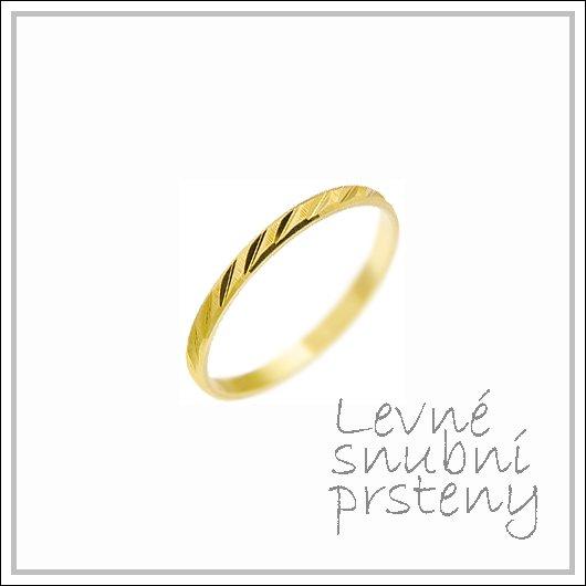 Snubní prsteny LSP 2438 žluté zlato