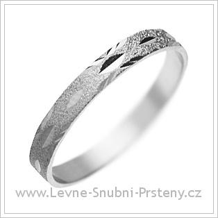 Snubní prsteny LSP 2441 bílé zlato