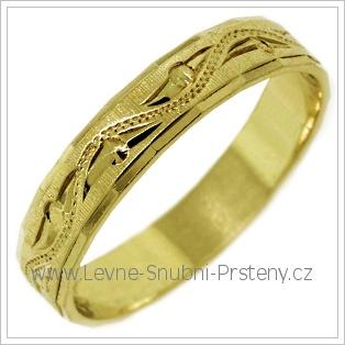 Snubní prsteny LSP 2444 žluté zlato
