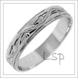 Snubní prsteny LSP 2444b bílé zlato