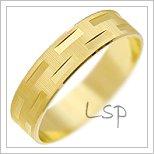 Snubní prsteny LSP 2448 žluté zlato