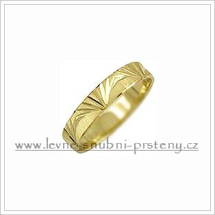Snubní prsteny LSP 2449 žluté zlato