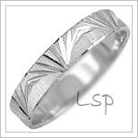 Snubní prsteny LSP 2449b bílé zlato