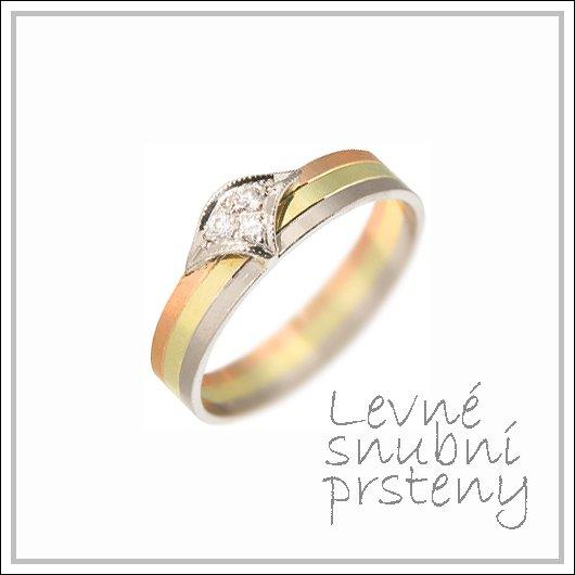 Snubní prsteny LSP 2452 kombinované zlato