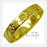 Snubní prsteny LSP 2457 žluté zlato