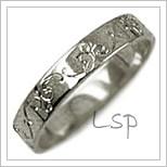 Snubní prsteny LSP 2457b bílé zlato