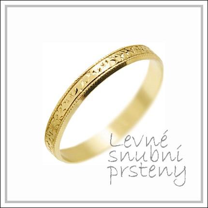 Snubní prsteny LSP 2460 žluté zlato