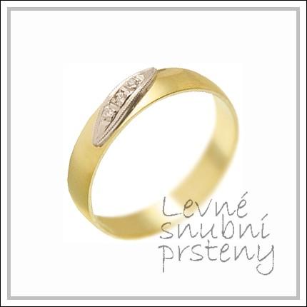 Snubní prsteny LSP 2461 žluté zlato