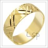 Snubní prsteny LSP 2469 žluté zlato