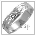 Snubní prsteny LSP 2470b bílé zlato