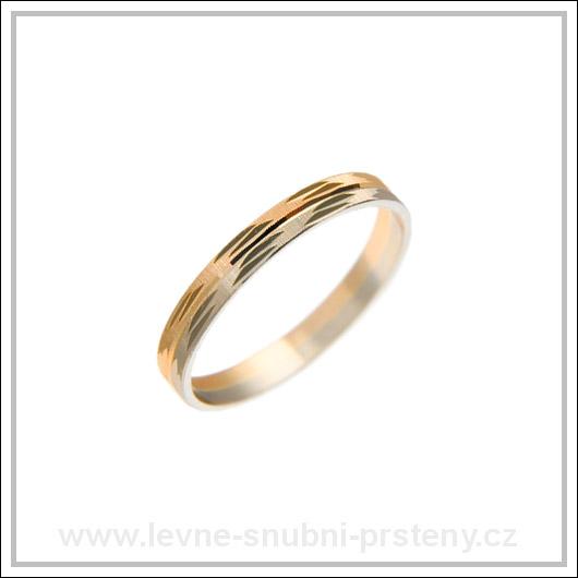 Snubní prsteny LSP 2471 kombinované zlato