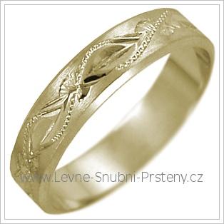 Snubní prsteny LSP 2473 žluté zlato